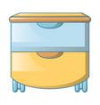 big drawers icon cartoon style vector image vector image
