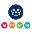 box icon flat design vector image