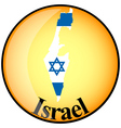 button Israel vector image