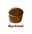 Cartoon loaf of spicy rye bread vector image vector image
