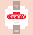 christmas card with light background and vector image vector image