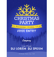 christmas night party poster or flyer merry vector image vector image