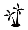 Coconut tree icon vector image