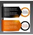 Colorful bookmarks for speech Black and orange vector image vector image