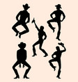 cowgirl detail silhouette vector image