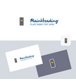cpu logotype with business card template elegant vector image