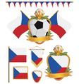 czech republic flags vector image vector image