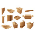 delivery packages boxes parcels and packs vector image vector image