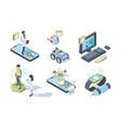 digital medicine smart electronic system for vector image vector image