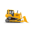 dozer high detailed vector image vector image