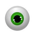 eyeballs isolated vector image vector image