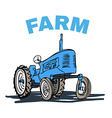 Farm Tractor Grunge T-shirt Print Design vector image