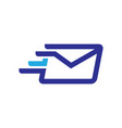 fast mail logo vector image vector image