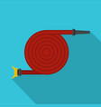 fire hose icon flat style vector image vector image