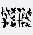 flying bird silhouette vector image