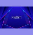 futuristic modern style e-sports gaming concept vector image vector image