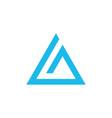 geometric triangle pyramid logo design business vector image vector image