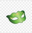 green carnival mask vector image vector image