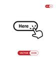 hand click cursor clicking here button icon vector image