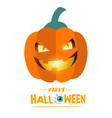 happy halloween smiling pumpkin background vector image