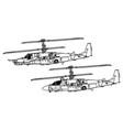 kamov ka-50 ka-52 hokum vector image vector image