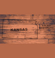 kansas map brand vector image vector image