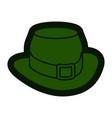 leprechaun hat icon vector image