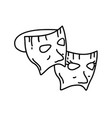 mask party icon doddle hand drawn or black vector image