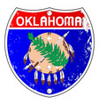 oklahoma flag icons as interstate sign vector image vector image