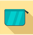 pencil box icon flat style vector image vector image