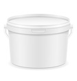 plastic bucket for paint 03 vector image vector image