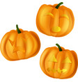 pumpkins for halloween on vector image vector image