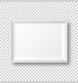 realistic blank white picture frame with shadow vector image