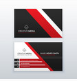 red and black professional business card for your vector image vector image