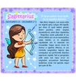 Sagittarius Zodiac kid vector image
