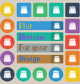School Backpack icon sign Set of twenty colored vector image vector image