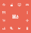 set of 13 editable plaza icons includes symbols vector image