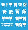 set of dentist icons vector image