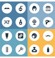 set of simple beautician icons