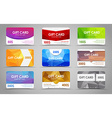 Set polygonal gift cards vector image