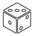 small dice icon outline style vector image vector image