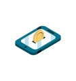 smartphone coin money online shopping isometric vector image