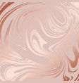 texture of marble with imitation of rose gold vector image vector image