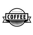 Vintage coffee logo or stamp vector image vector image