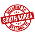 welcome to south korea red stamp vector image vector image