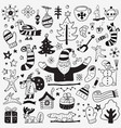 Winter doodles set