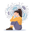 woman fears and phobias anxiety and despair pain vector image