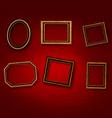 Wooden vintage frames on old wall vector image