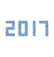 modern abstract 2017 Happy New Year vector image
