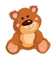 Brown teddy bear on a white background vector image